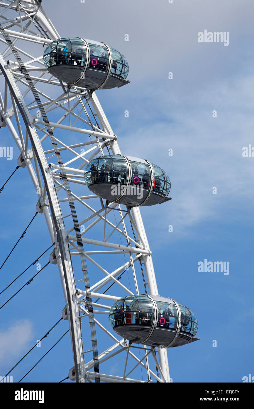 Passenger Capsule London Eye Southbank Stock Photos