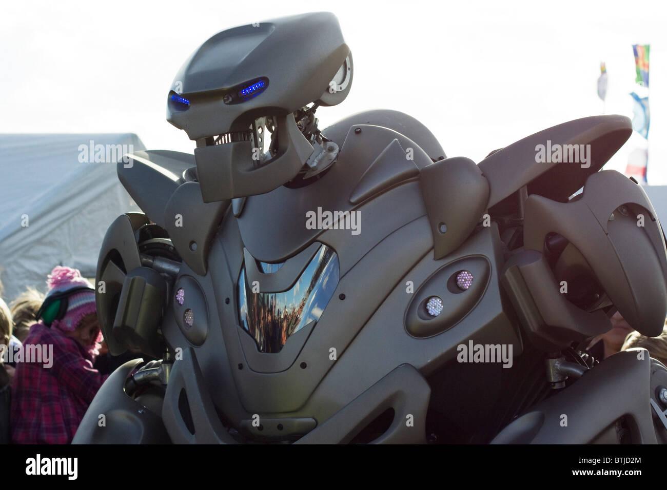 Titan the Robot at Santa Pot Raceway England Stock Photo