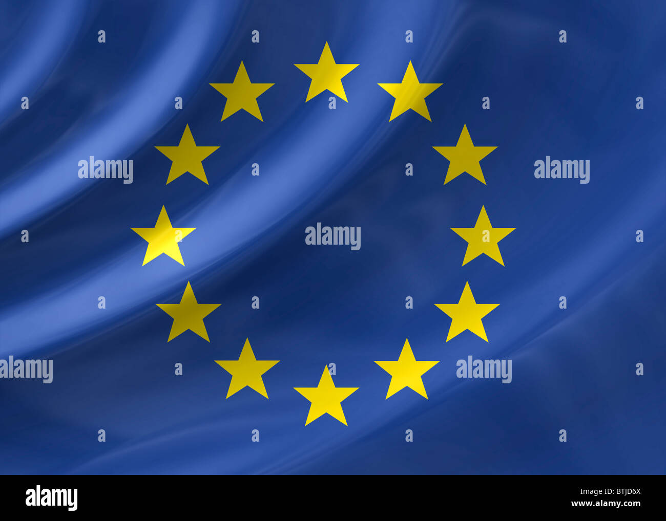 European Union flag - Stock Image