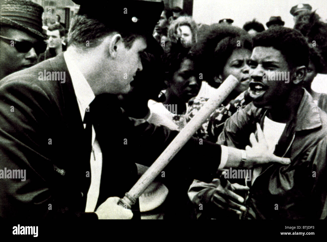 Civil Rights march confrontation with police in 1964 - Stock Image