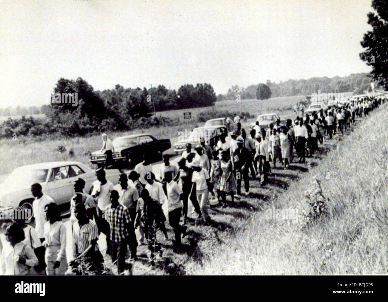 Civil Rights march from Memphis to Jackson, Mississippi, in 1966 - Stock Image