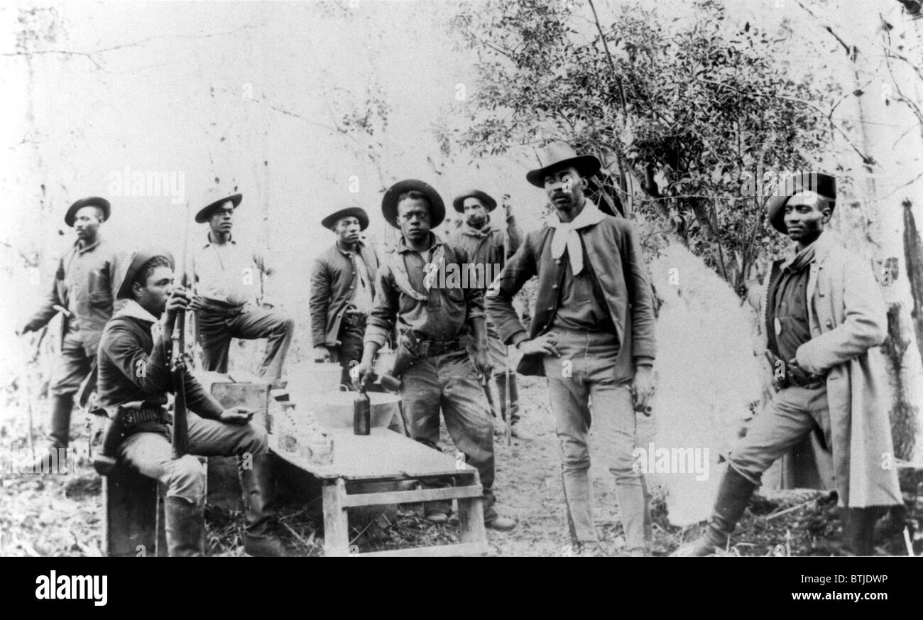 CIVIL WAR-The 25th infantry in 1880-one of four black regiments that served on the frontier in post-Civil War era. - Stock Image