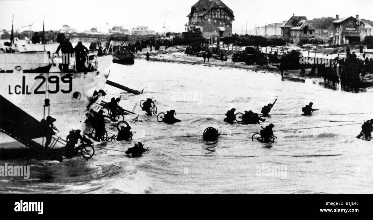 D-DAY, Allied Troops invade Normandy, France, 1944 - Stock Image