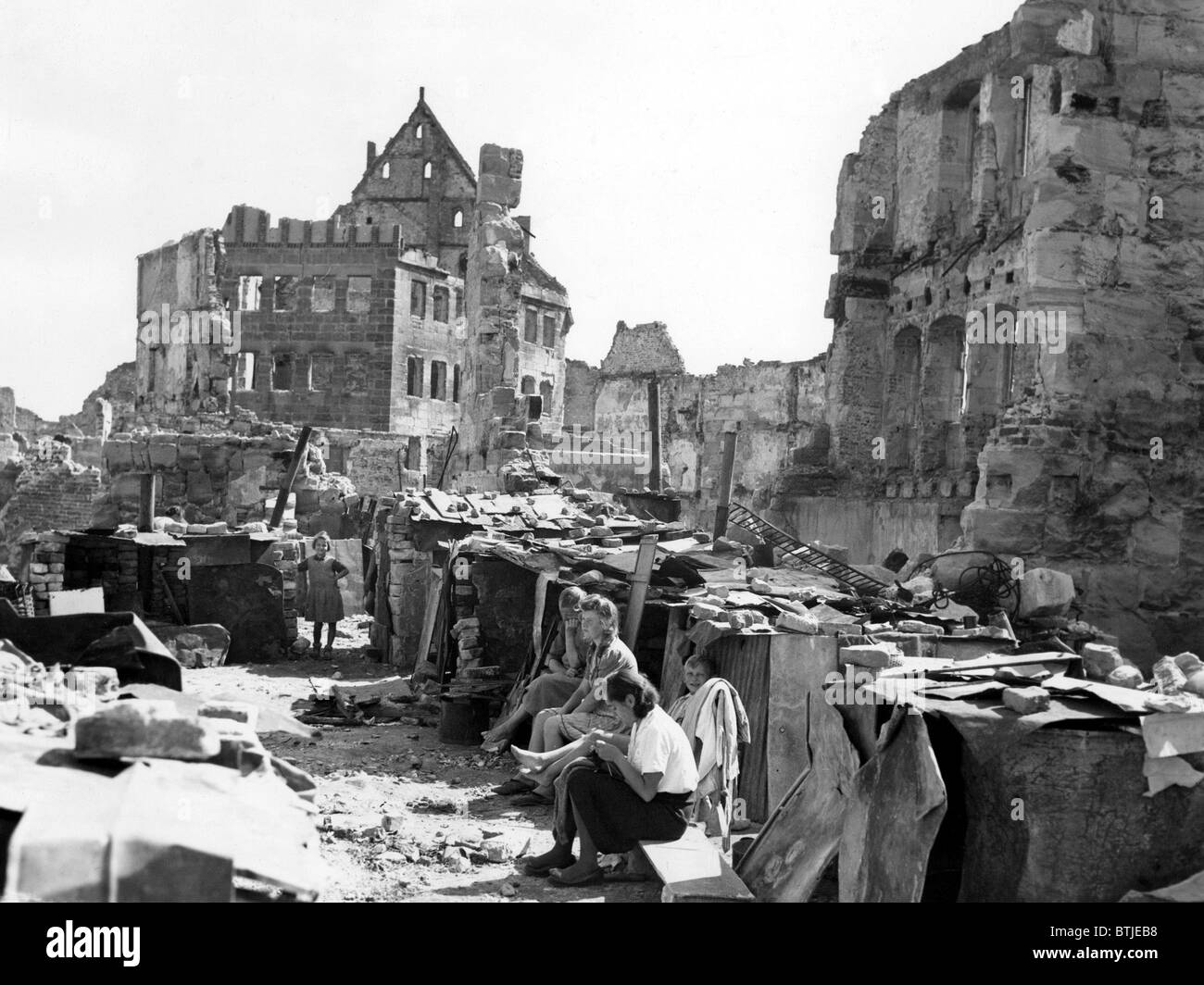 Postwar Nuremberg, life amongst the ruins, 9/19/45 Stock Photo