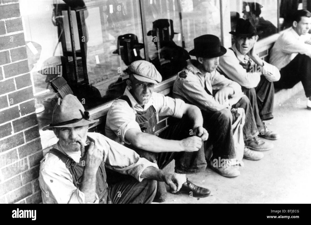 Great Depression, Unemployed Men, 1930's - Stock Image