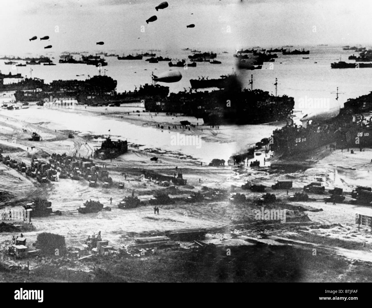 NORMANDY, beaches on D-Day - Stock Image