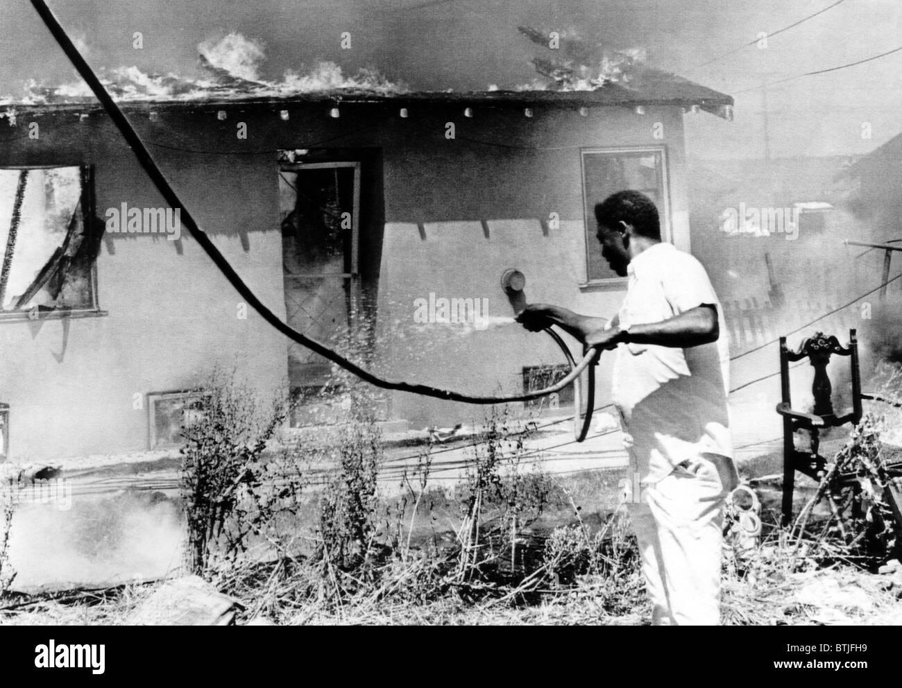 Movie studio burned in california
