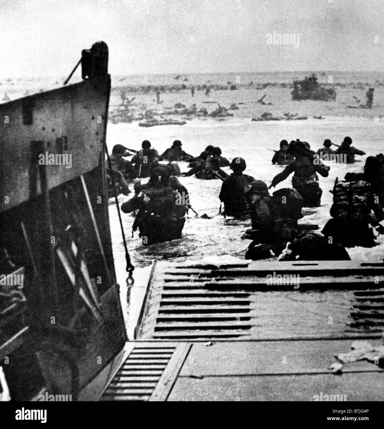 World War II: D-Day, the Invasion of Normandy, June 6, 1944. - Stock Image