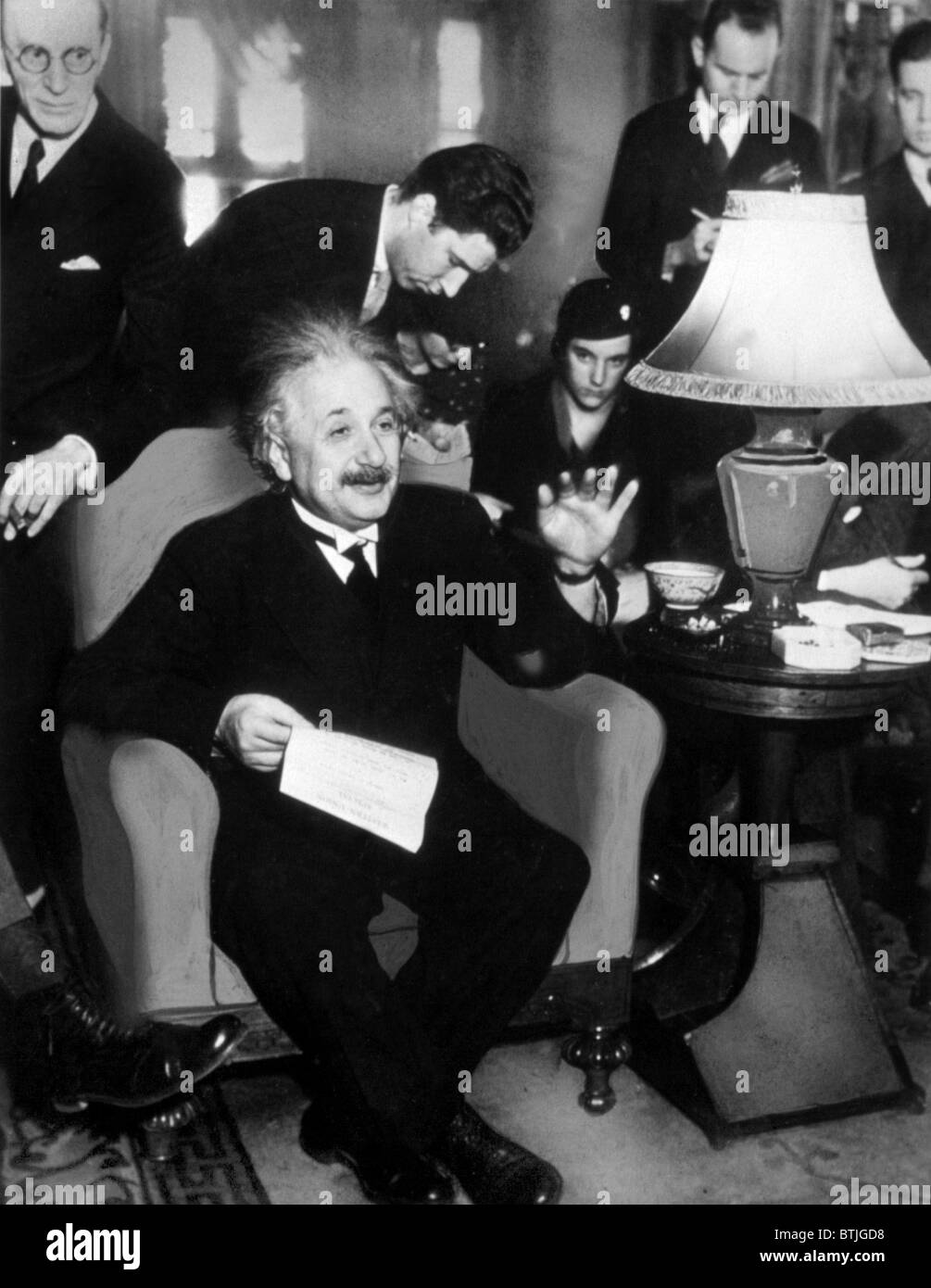 ALBERT EINSTEIN, 1934 Stock Photo