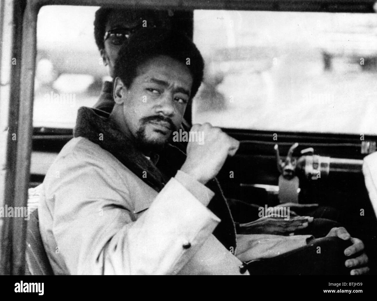 Black Panther leader Bobby Seale on his way to trial where he faces charges in connection with the murder of Alex - Stock Image