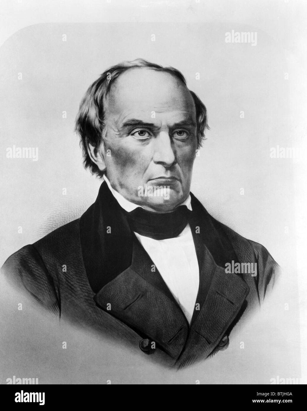 Daniel Webster, (1782-1852), U.S. Secretary of State and Whig leader, c. 1840's. - Stock Image