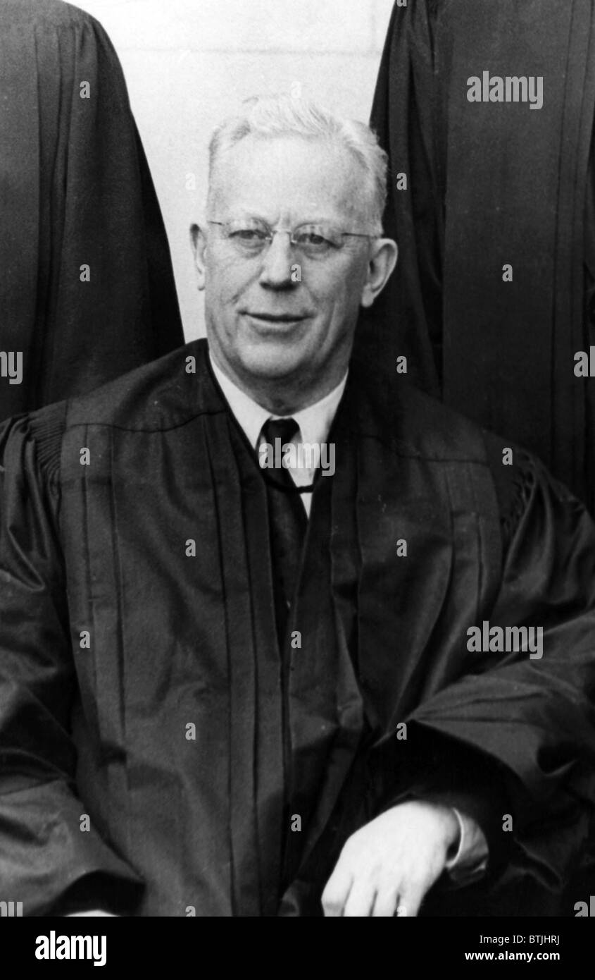 Earl Warren, (1891-1974), Chief Justice of the U.S. Supreme Court, 1956. - Stock Image