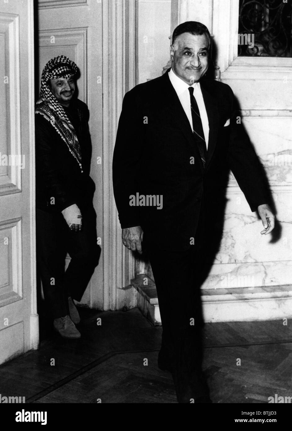 Yassir Arafat, and Gamal Abdel Nasser, circa 1969. CSU Archives/Courtesy Everett Collection - Stock Image