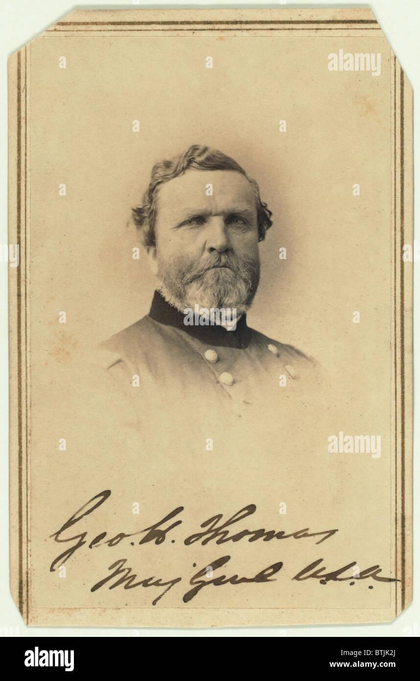 Major General George Henry Thomas Carte De Visite Signed By