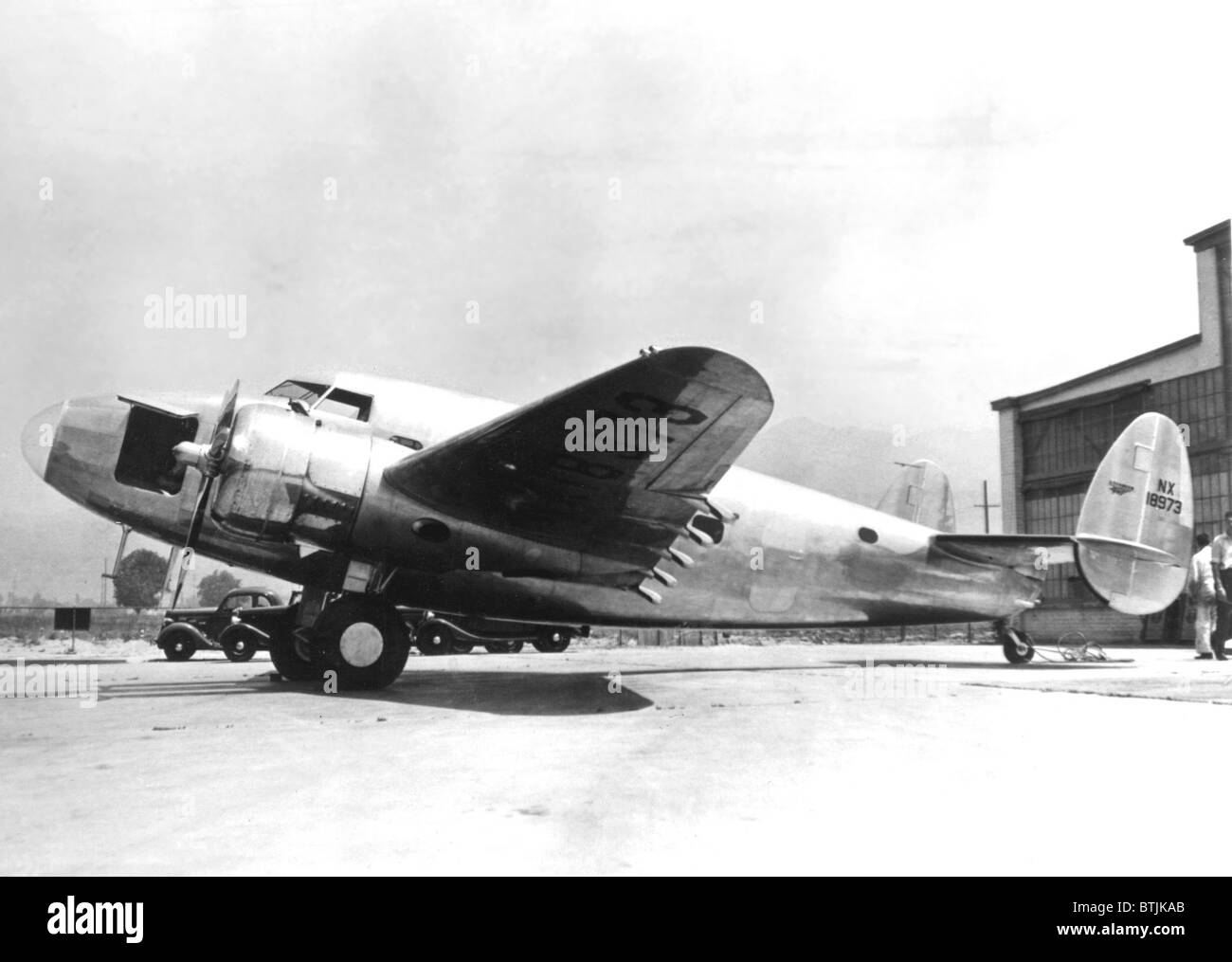 Lockheed airplane built for Howard Hughes round the world flight, called World's Fair'39.photo6/23/38 - Stock Image