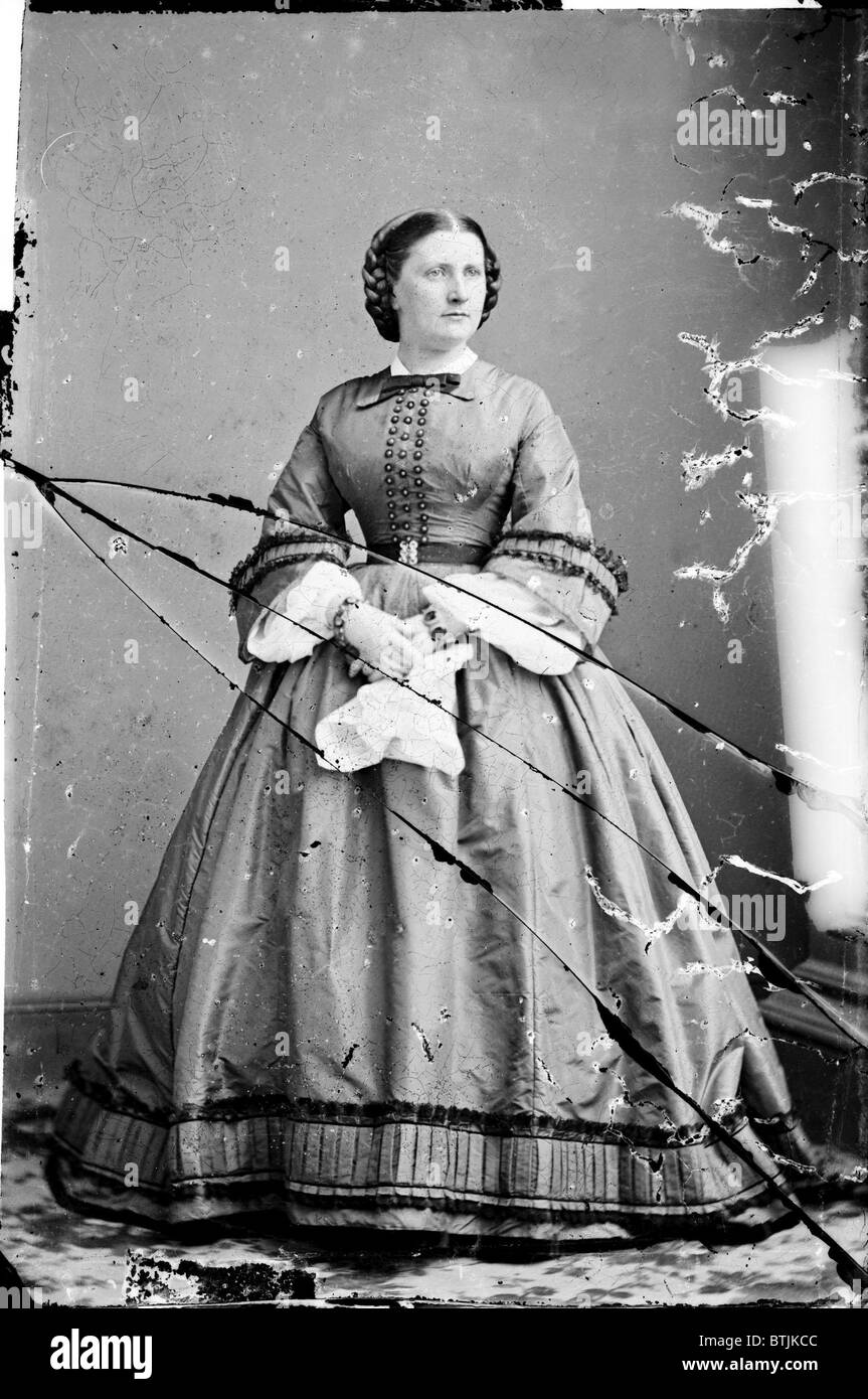 Harriet Lane, niece of  James Buchanan; acted as First Lady during his term as President. ca. 1855-1865. - Stock Image