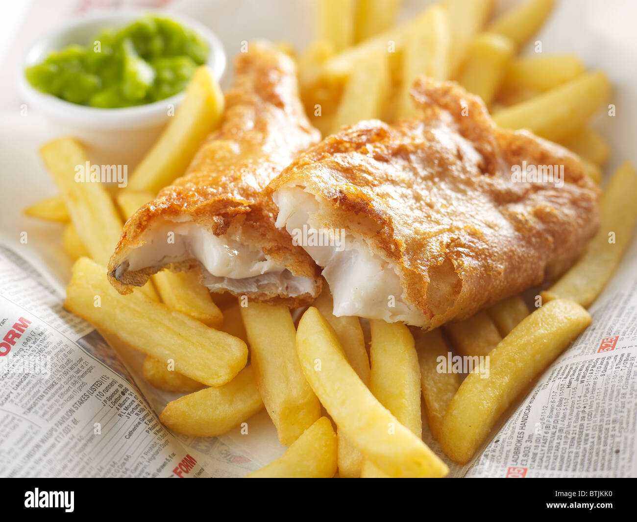 fish and chips to take away - Stock Image