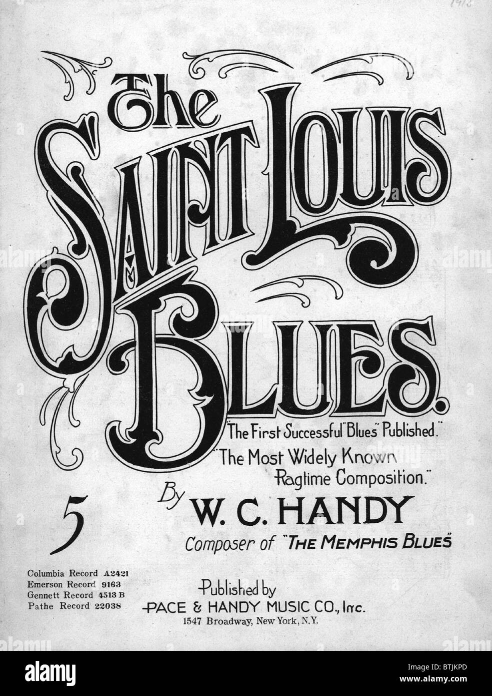 Saint Louis Blues Aka St Composed By WC Handy