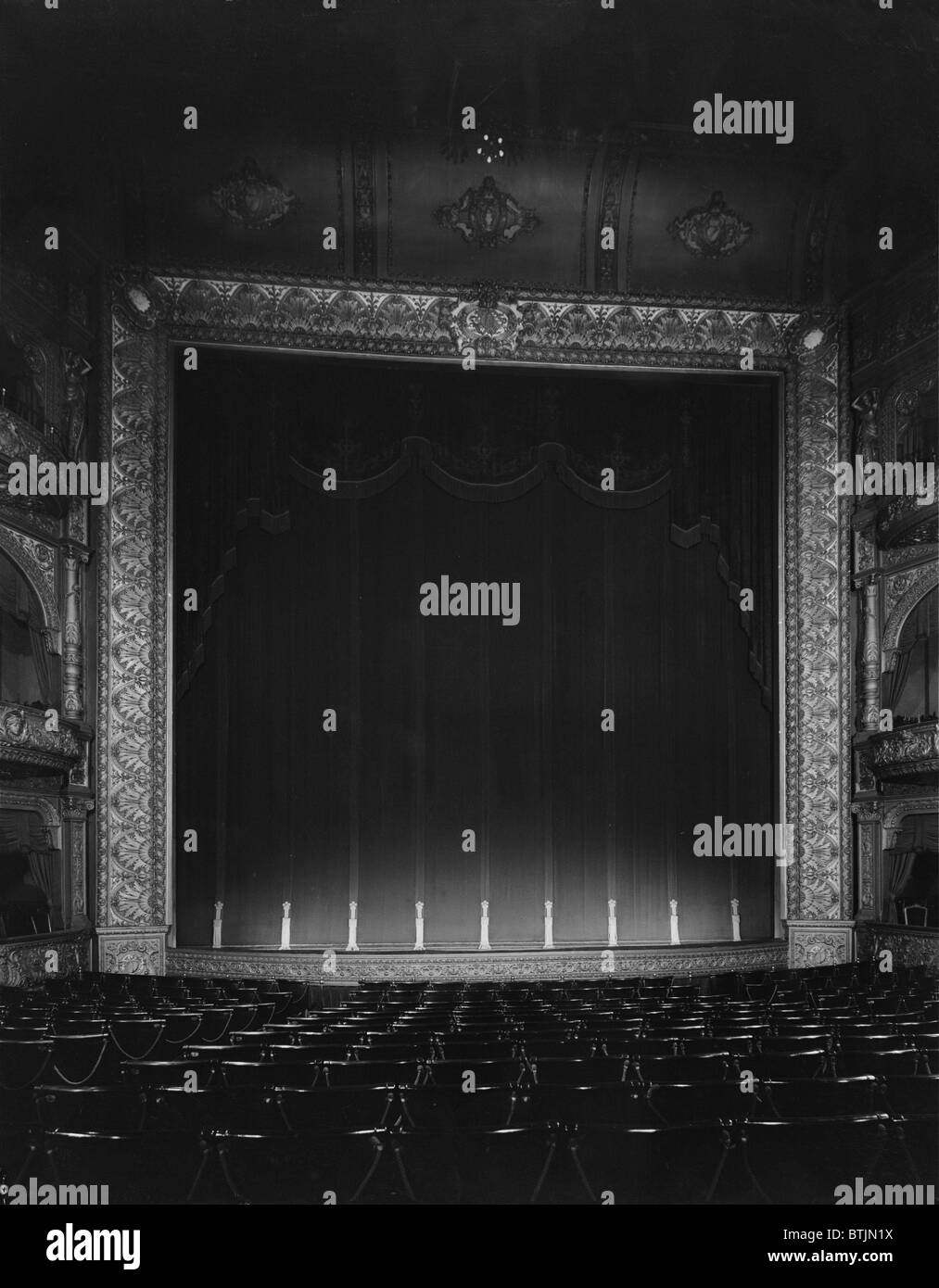 The Hollis Street Theater, auditorium, constructed in 1885, photograph by Arthur C. Haskell, Hollis Street, Boston, - Stock Image