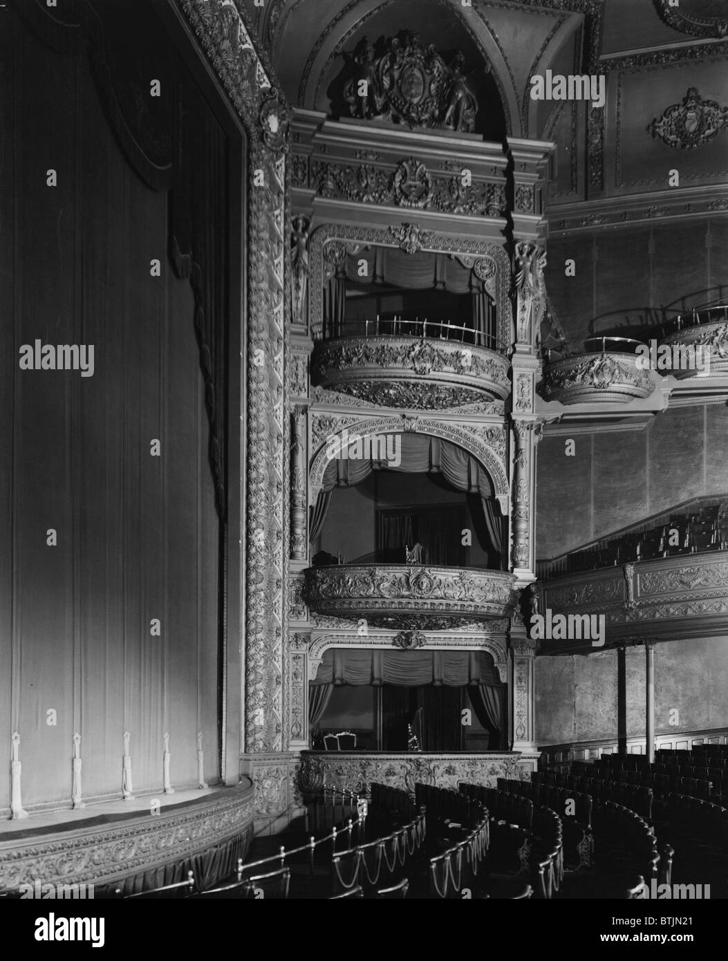 The Hollis Street Theater, auditorium and balconies, constructed in 1885, photograph by Arthur C. Haskell, Hollis - Stock Image