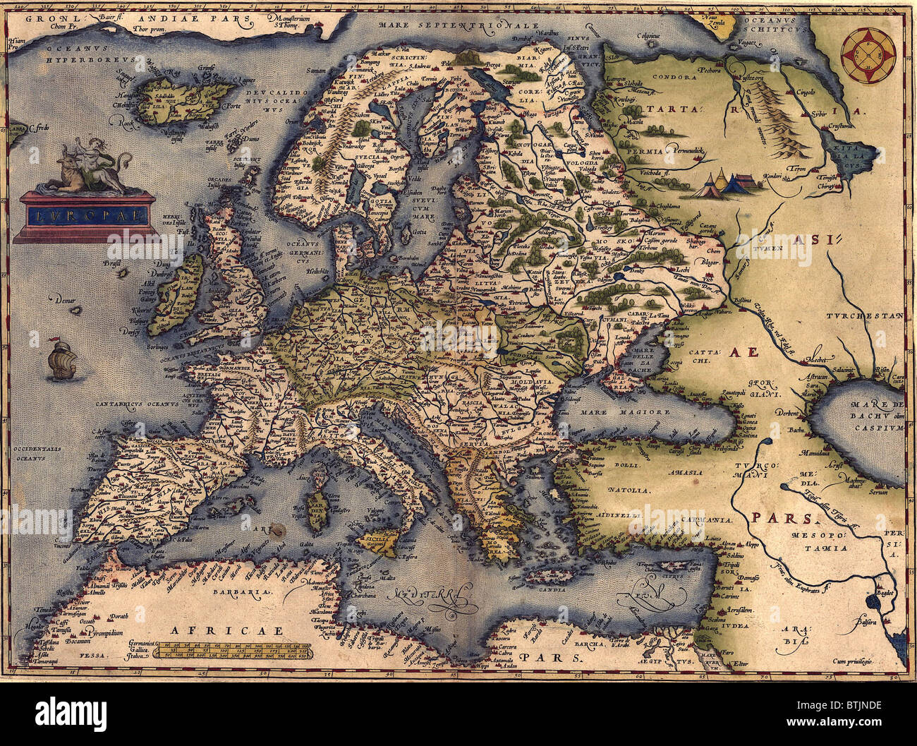 16th Century Map Of Europe Map Europe 16th Century Stock Photos & Map Europe 16th Century