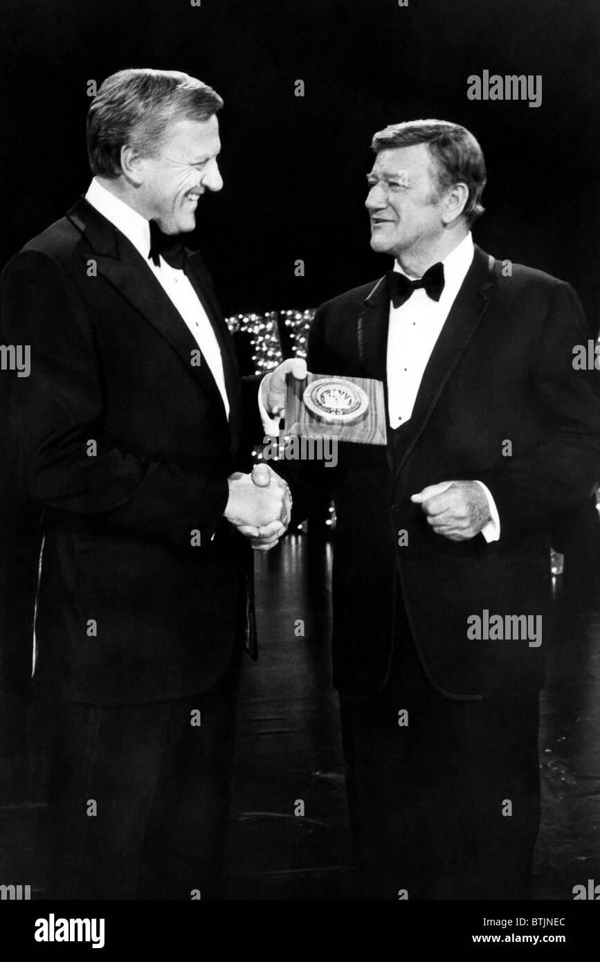 James Arness, John Wayne, circa 1972. CSU Archives/Courtesy Everett Collection - Stock Image
