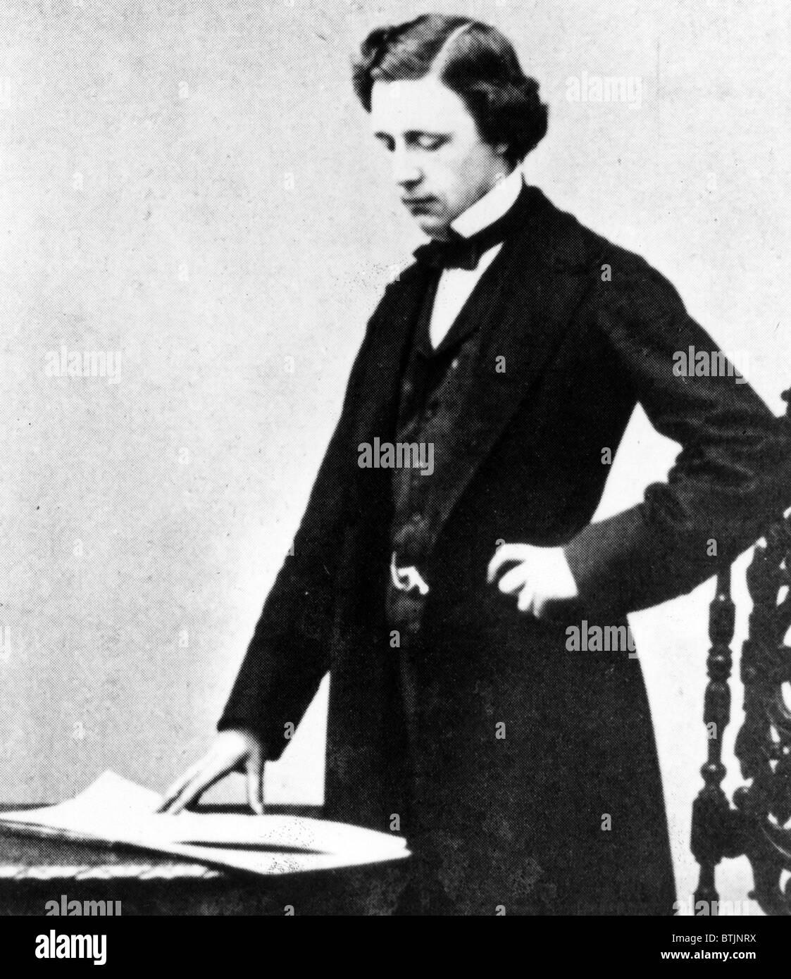 LEWIS CARROLL, (Charles Lutwidge Dogson) at 25. Author of Alice Wonderland, 1857 - Stock Image