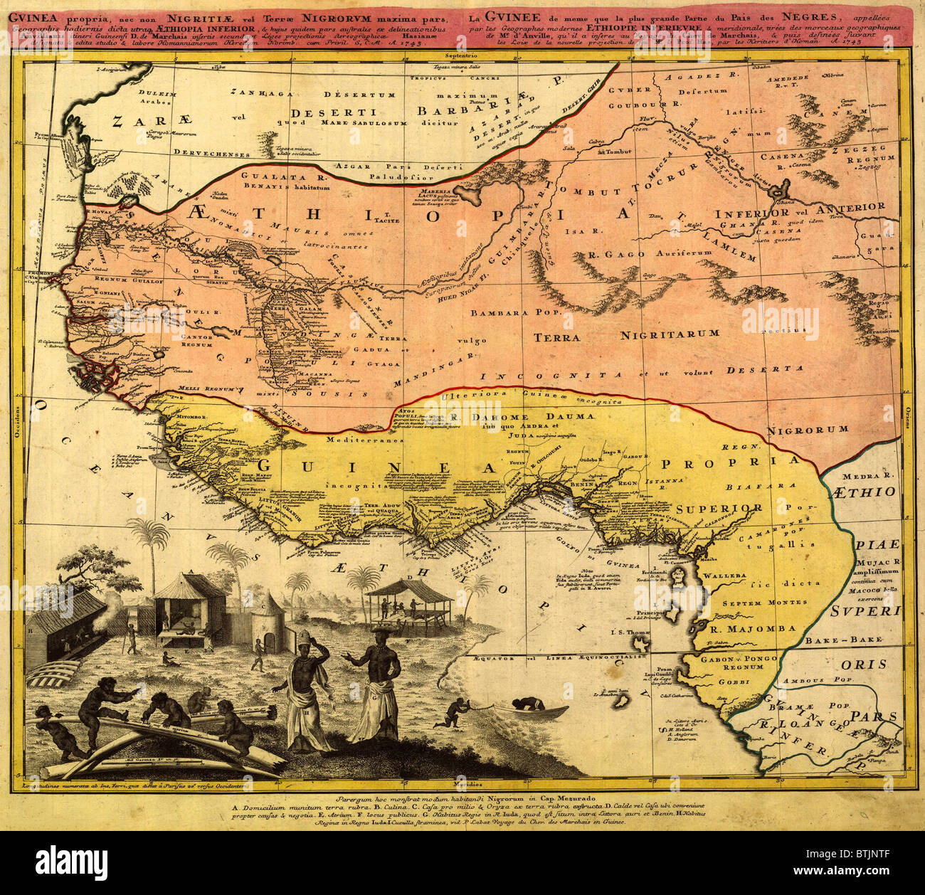 Picture of: 1743 Map Of West Coast Of Africa Where Slave Trade Thrived Ignoring Stock Photo Alamy