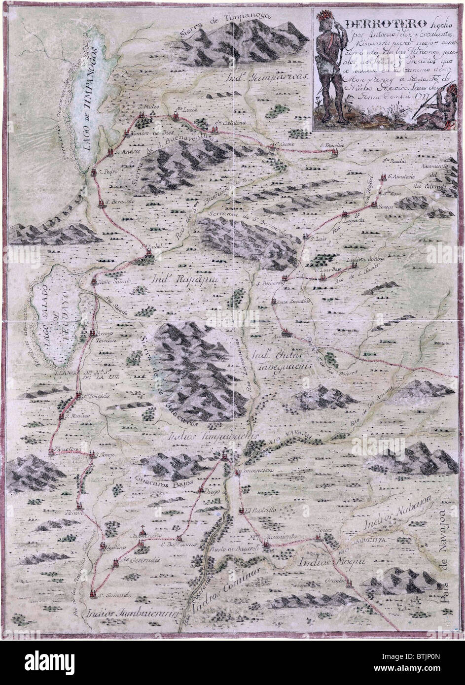 1777 map that covers sections of Colorado, Utah, Arizona and New ...