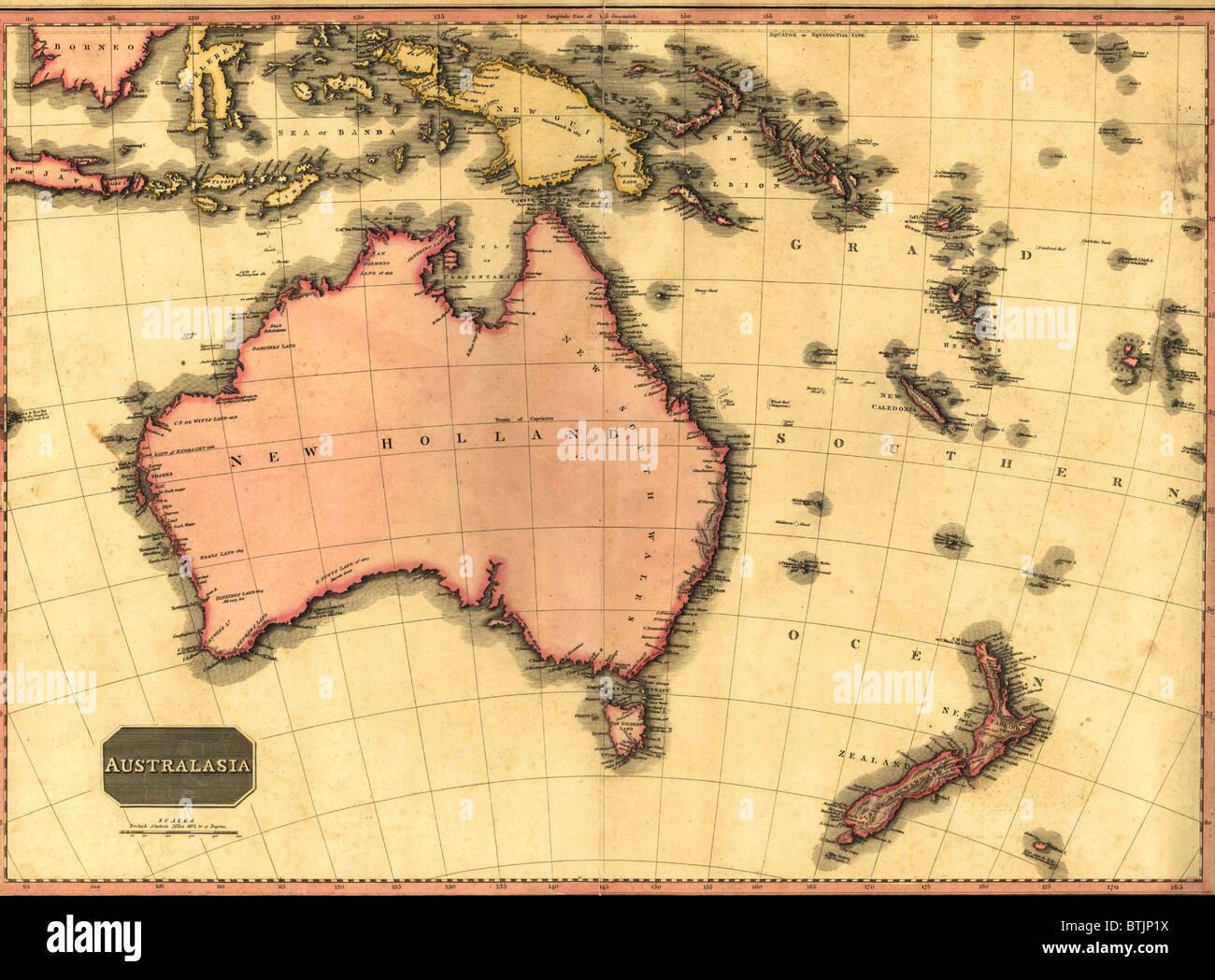 australia map 1788