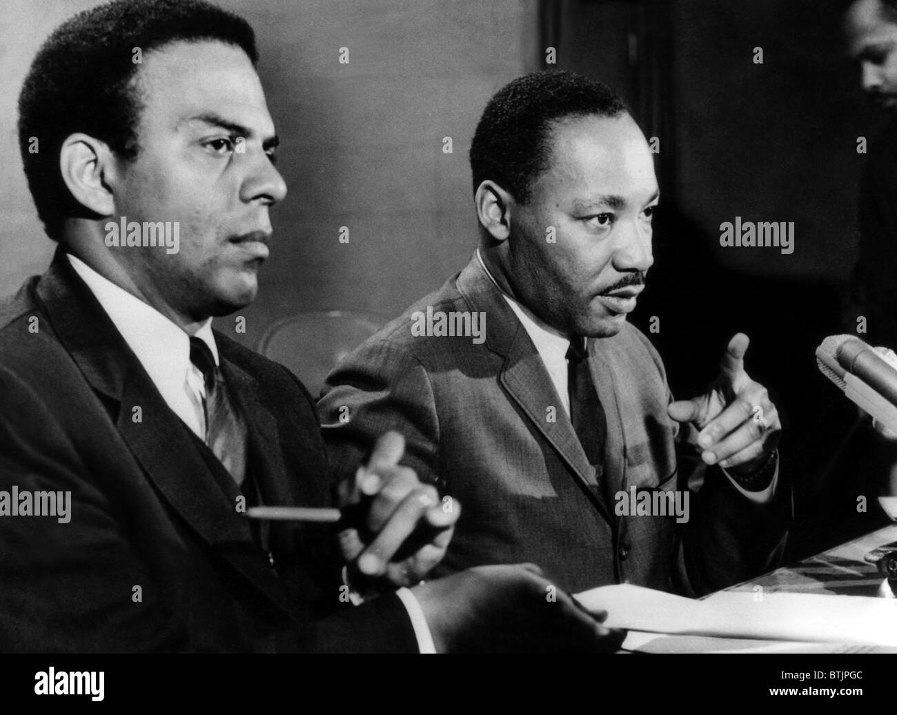 American Civil Rights Activists Andrew Young And Dr Martin Luther