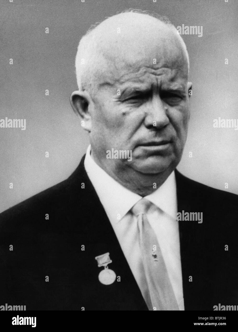 Nikita Khrushchev, (1894-1971), leader of the Soviet Union after the death of Stalin, c. 1950's. - Stock Image