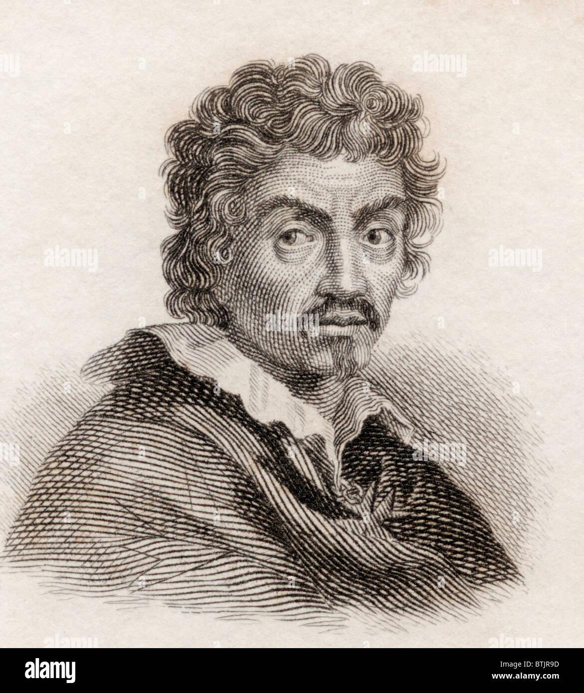 Michelangelo Merisi da Caravaggio, 1571 to 1610. Italian artist. - Stock Image