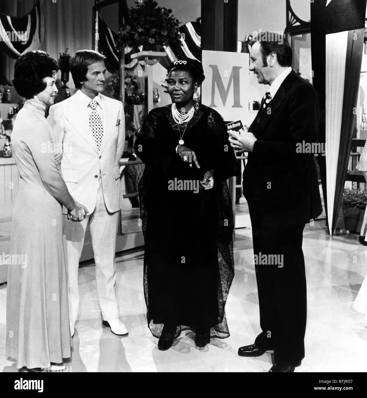 Evelyn Roberts, Pat Boone, Pearl Bailey, Oral Roberts, on the television program 'Summer 74', 1974. - Stock Image