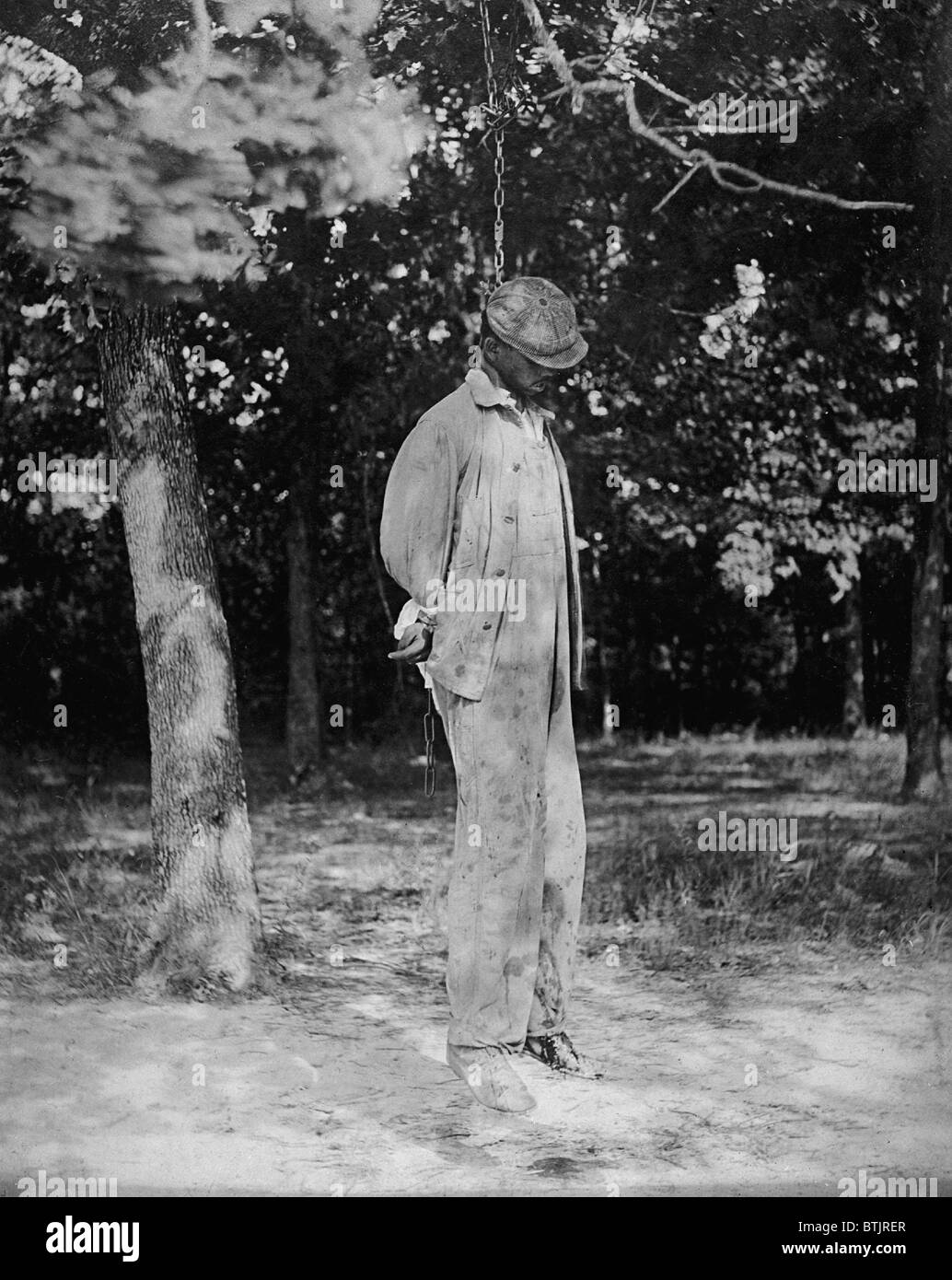 Anonymous African American lynching victim of 1925. - Stock Image