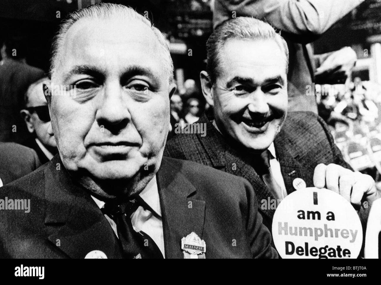 Richard J Daley Mayor Of Chicago And Illinois Delegate George Dunne At The