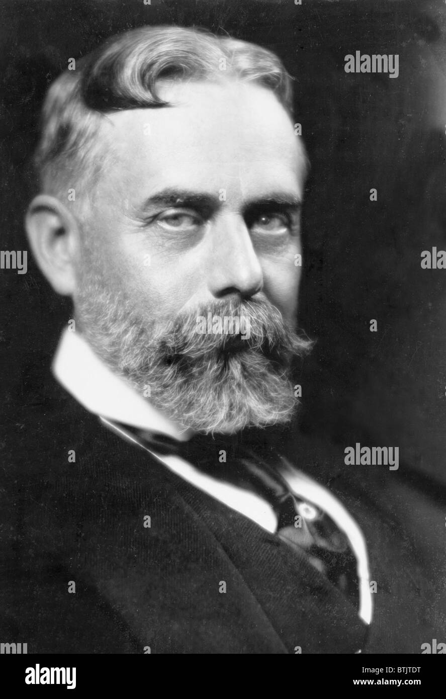 Sir Gilbert Parker (1862-1932) Canadian novelist and politician who wrote about the history and life of the French Stock Photo