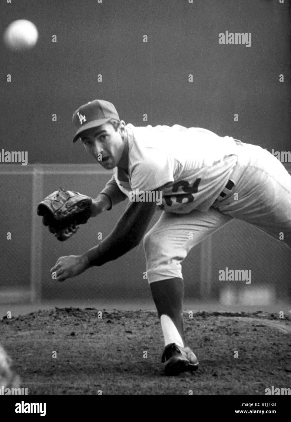 L.A. Dodgers pitcher SANDY KOUFAX, 1965 Stock Photo