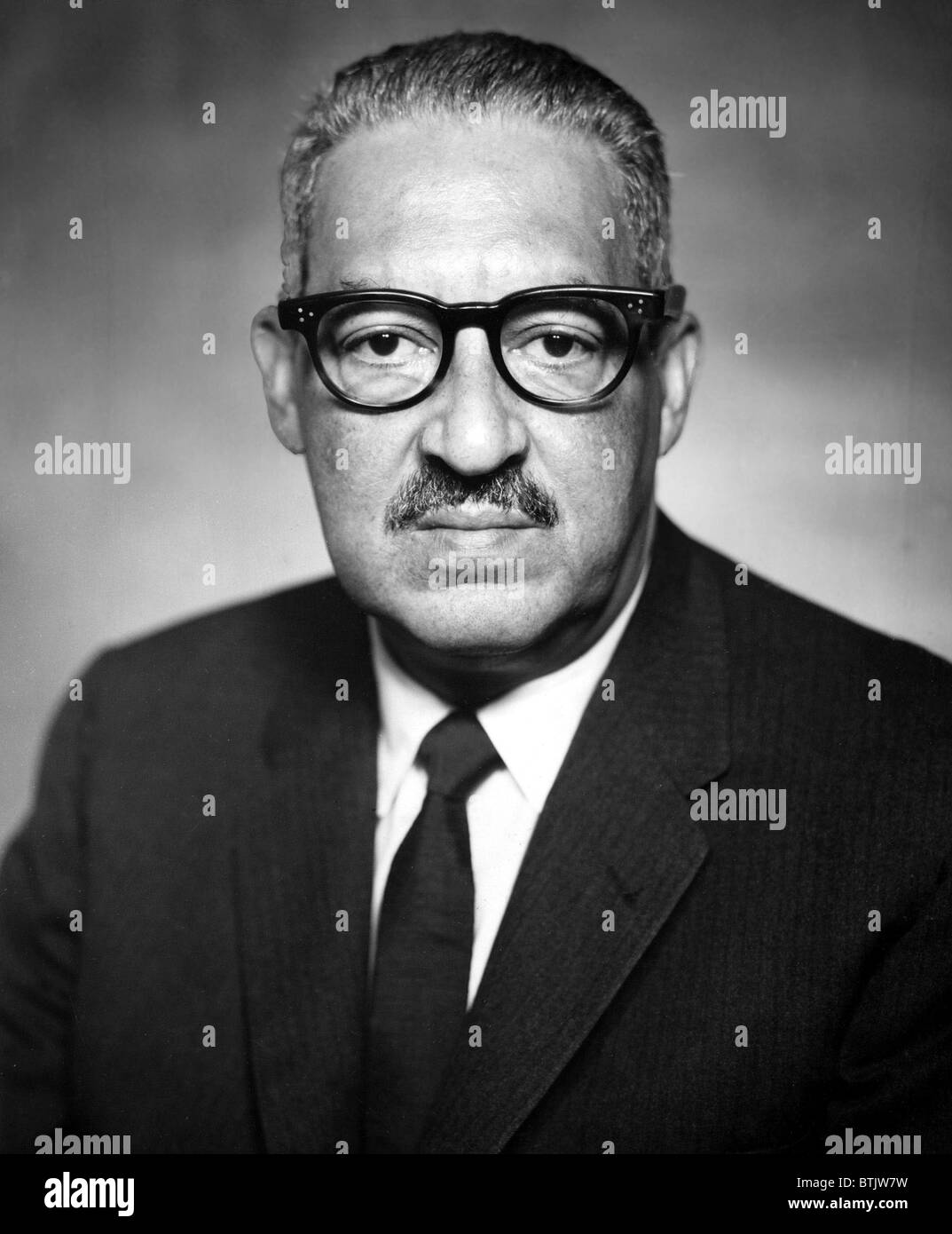 Thurgood Marshall (1908-1993) Pictured as Solicitor General of the United States, 4/10/67 - Stock Image