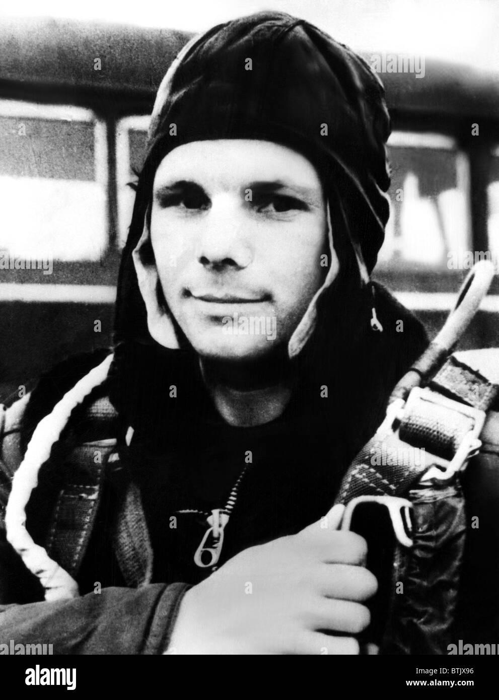 Soviet astronaut, Yuri Gagarin. 1961. Courtesy: CSU Archives/Everett Collection - Stock Image