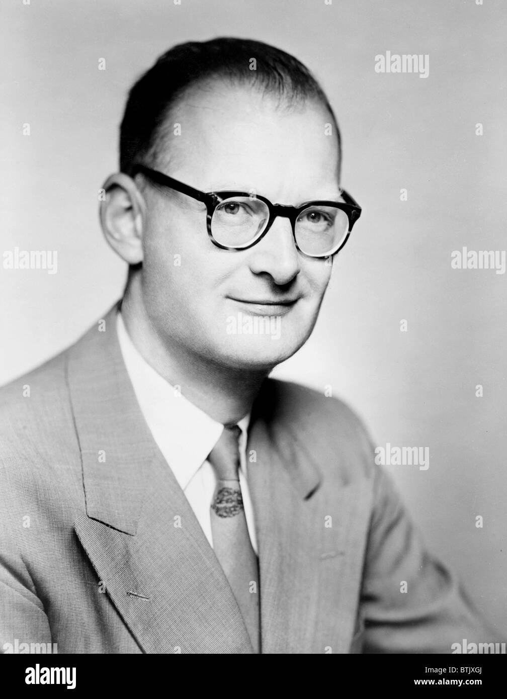 Arthur C. Clarke (born 1917), English writer of both science and science fiction, best known for his short story - Stock Image