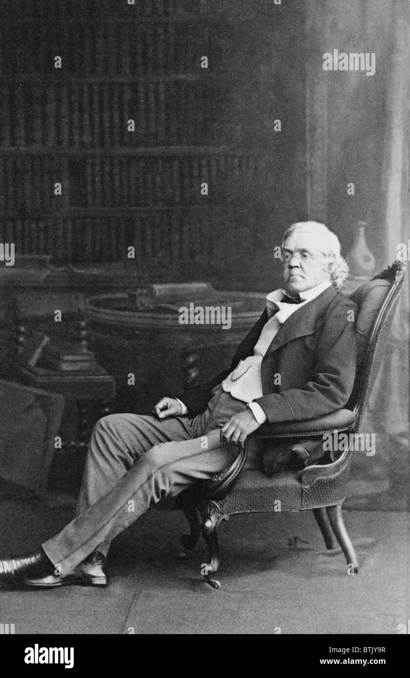 """William Makepeace Thackeray (1811-1863) English novelist best known for his classic, """"Vanity Fair"""" (1847-8). The Stock Photo"""