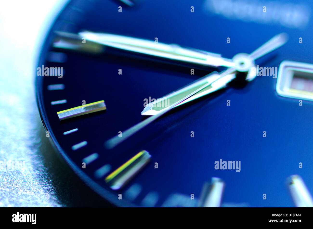 Watch face - selective focus - Stock Image