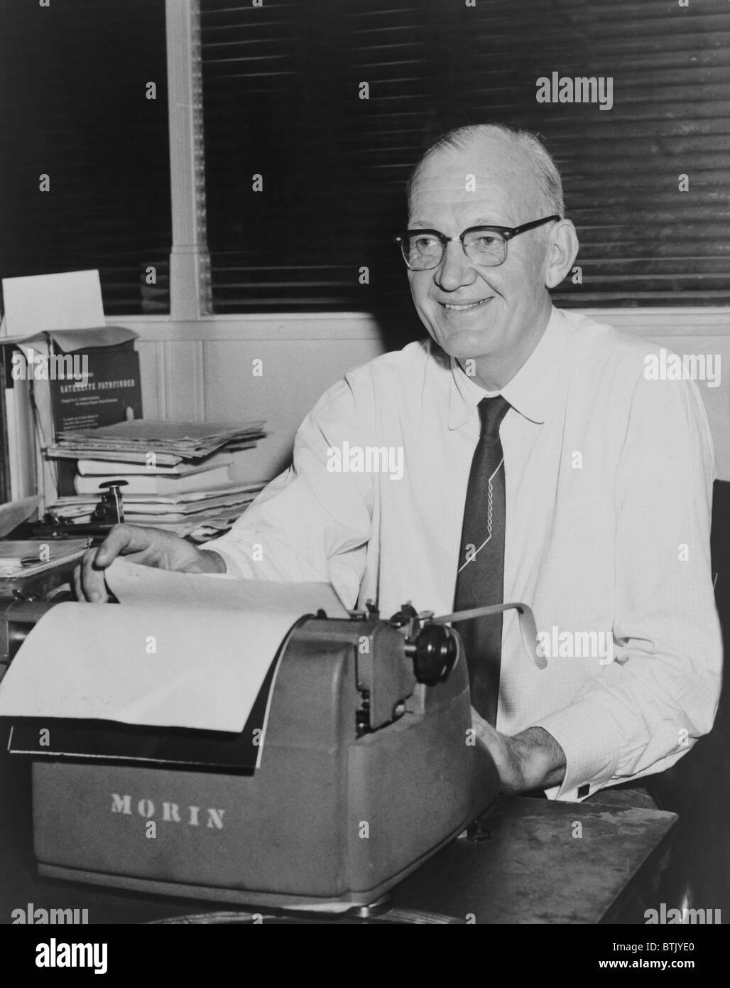 Relman Morin (1907-1973), Associated Press reporter won two Pulitzer Prizes: 1951 for Korean War coverage; 1958 - Stock Image