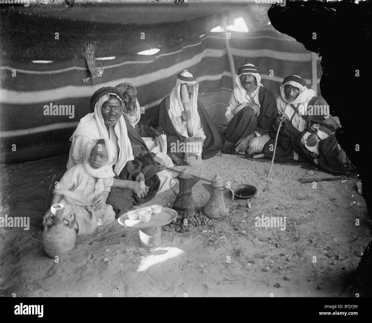 Tent at locust killers camp, in the mideast, photograph, 1898-1946. - Stock Image