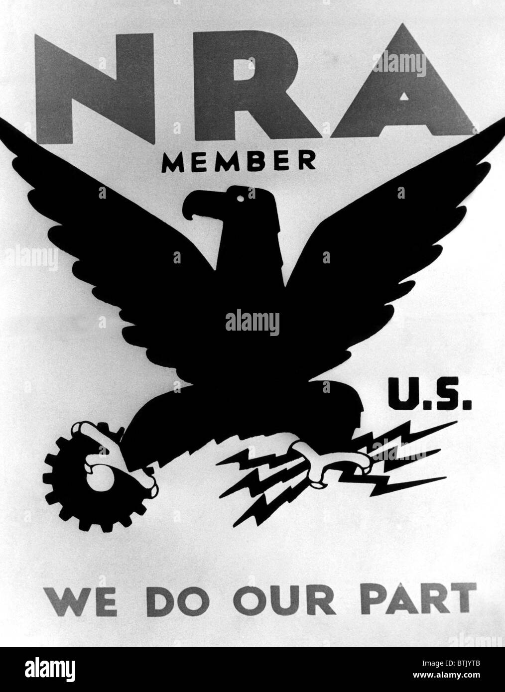 Poster for the National Recovery Administration (NRA). ca. 1930s. Courtesy: CSU Archives/Everett Collection - Stock Image