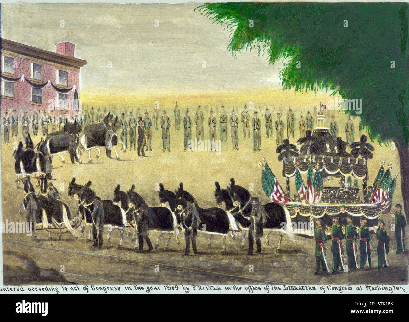 Abraham Lincoln S Funeral Car In New York City On April 26th 1865