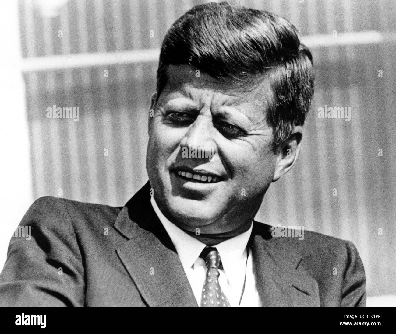 JFK: ONE THOUSAND DAYS -- AND TEN YEARS, CBS News Special Report, John F. Kennedy, aired 10/19/1973. - Stock Image