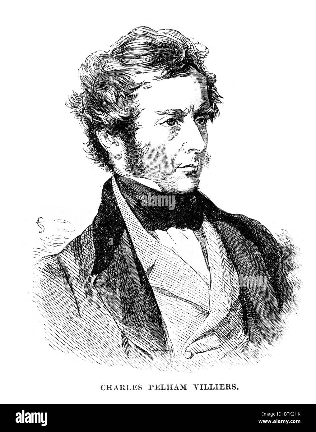 Charles Pelham Villiers a British lawyer and politician who sat in the House of Commons from 1835 to 1898 the longest - Stock Image