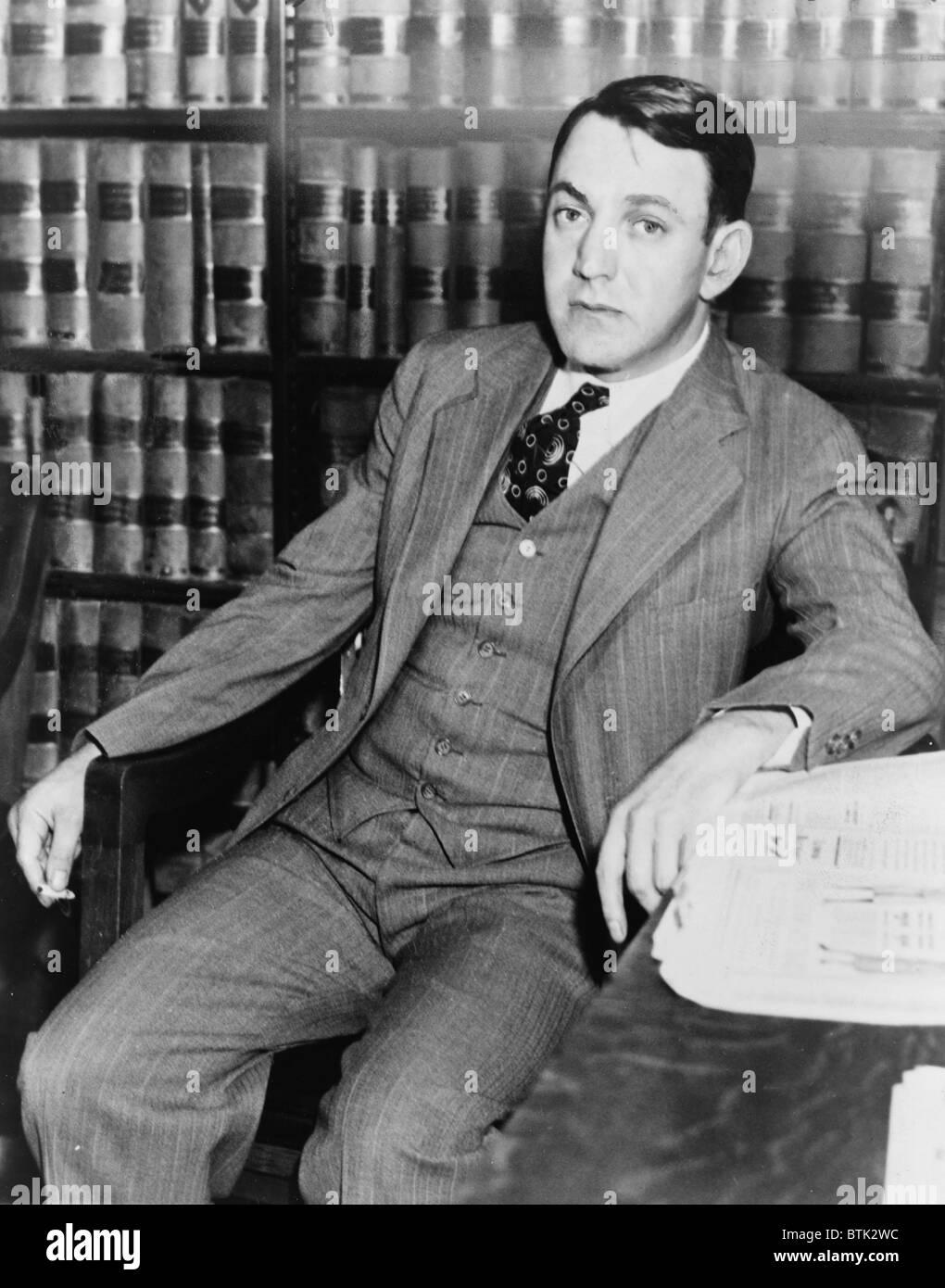 Dutch Schultz, born Arthur Flegenheimer (1902-1935), gangster and New York bootlegger was brought down by legal - Stock Image